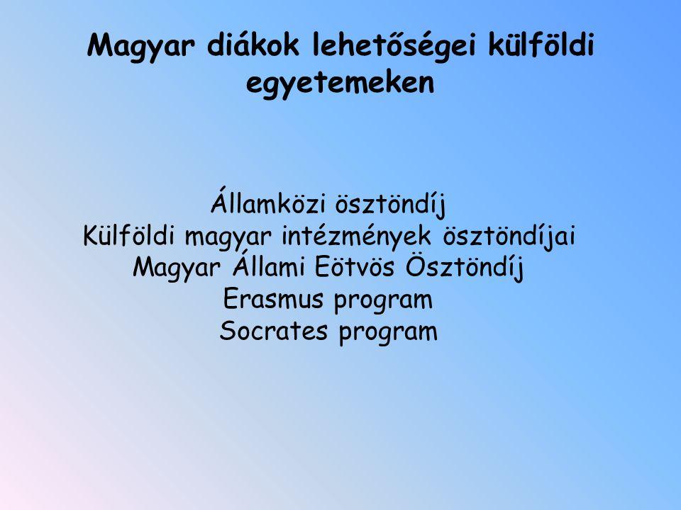 Magyar diákok lehetőségei külföldi egyetemeken
