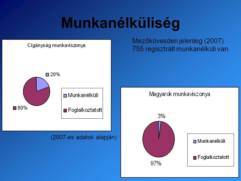 Munkanélküliség Mezőkövesden jelenleg (2007) 755 regisztrált munkanélküli van.