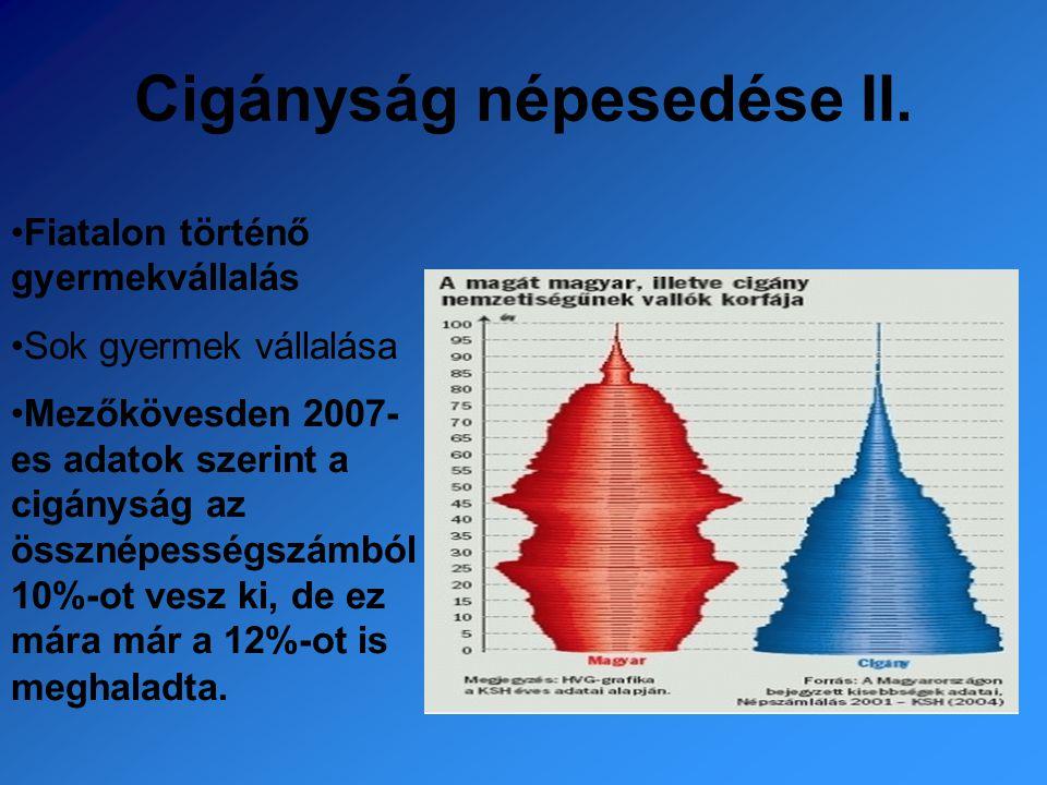 Cigányság népesedése II.