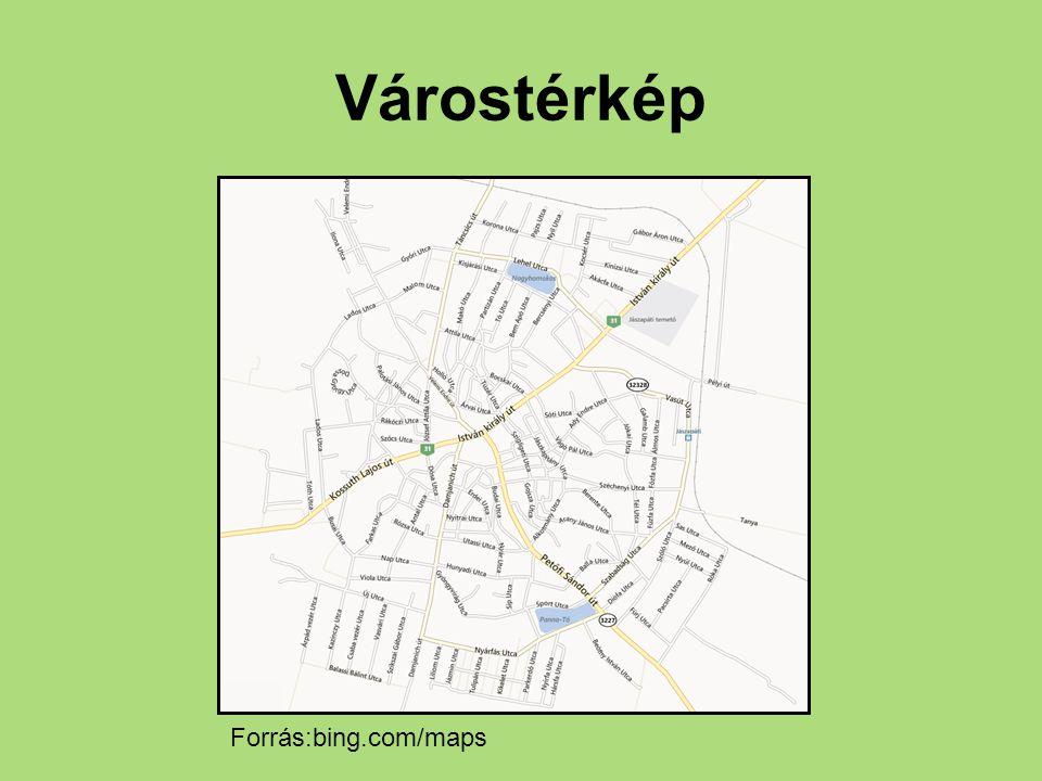 Várostérkép Forrás:bing.com/maps