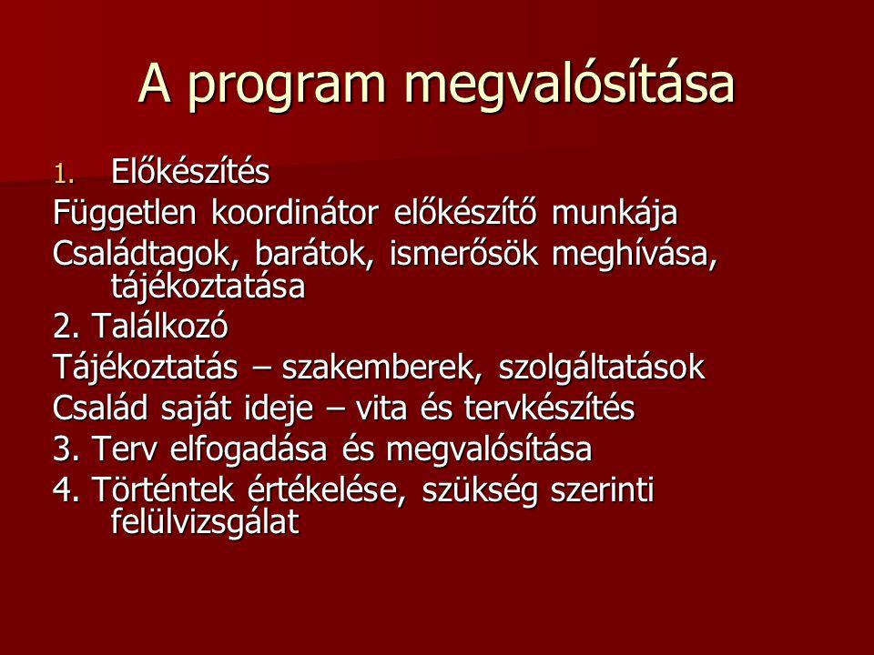 A program megvalósítása