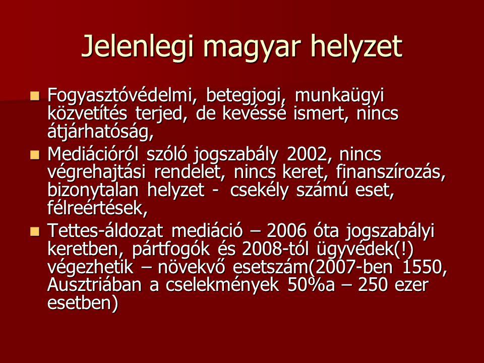 Jelenlegi magyar helyzet