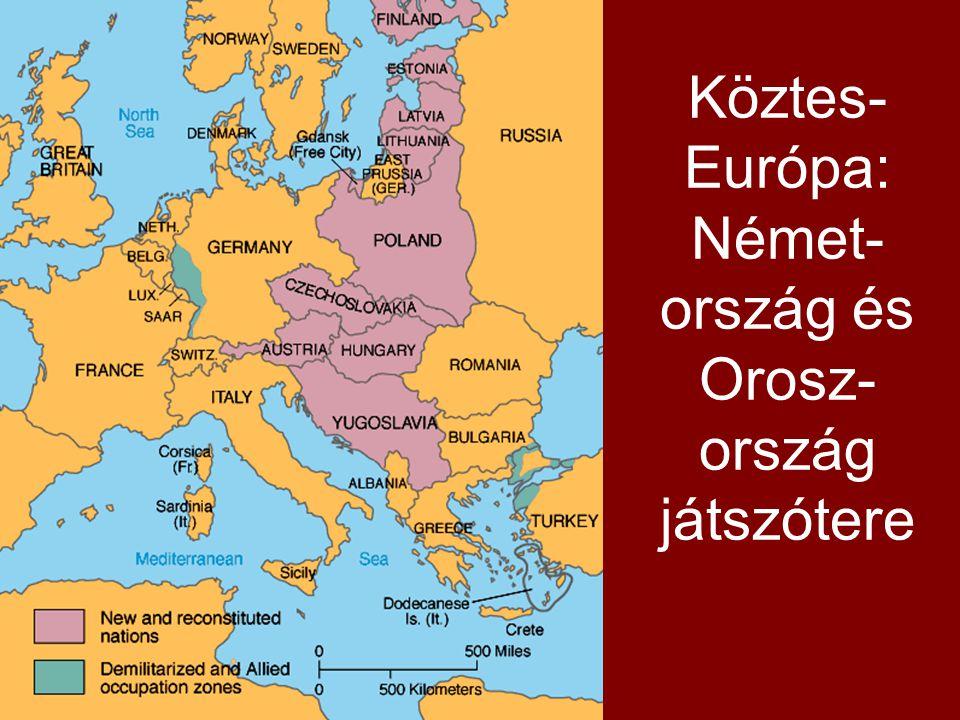 Köztes-Európa: Német-ország és Orosz-ország játszótere