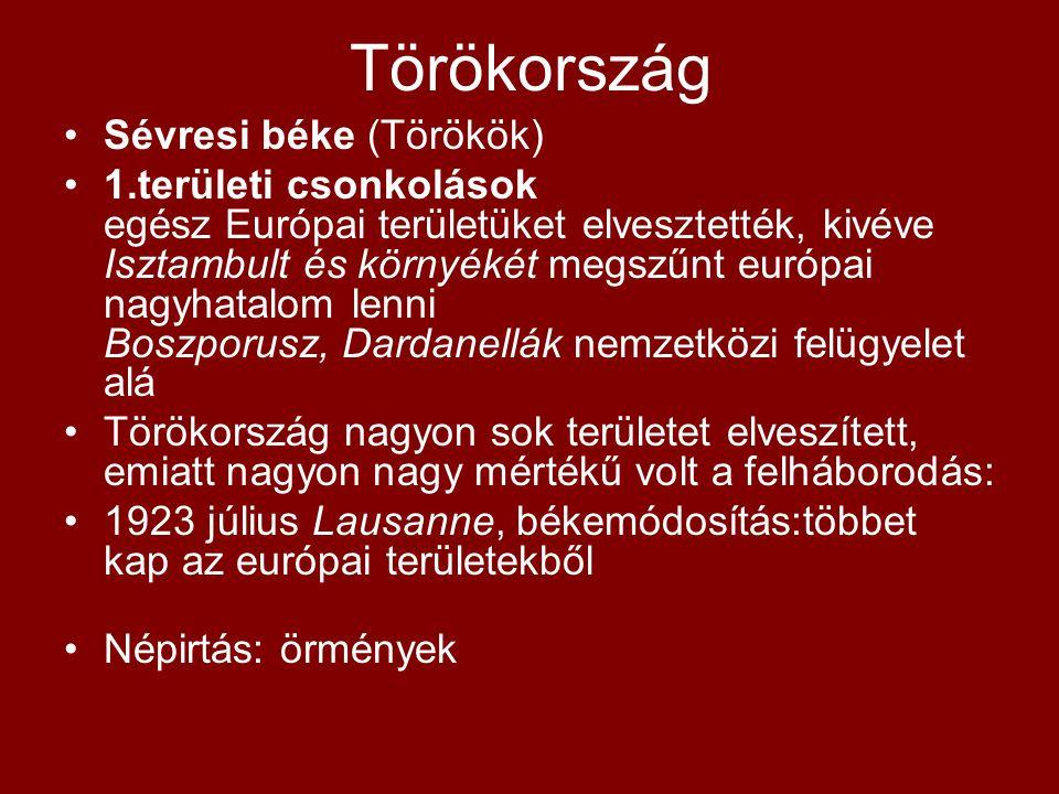 Törökország Sévresi béke (Törökök)