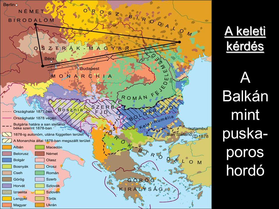 A keleti kérdés A Balkán mint puska-poros hordó