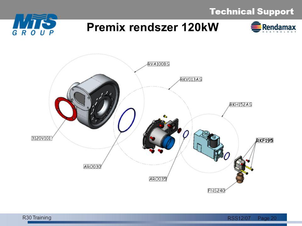 Premix rendszer 120kW R30 Training