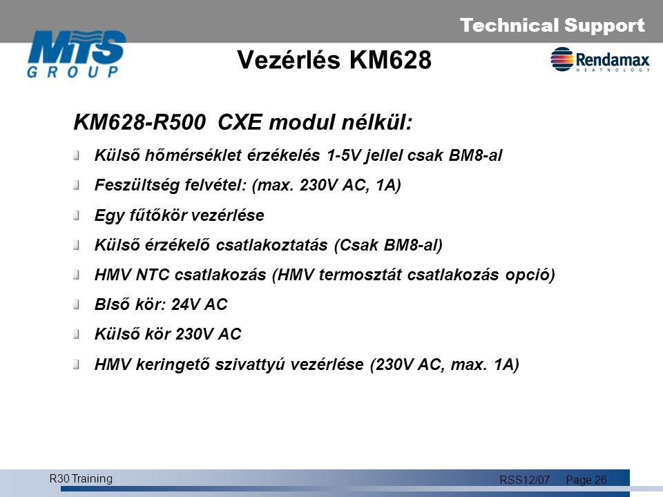 Vezérlés KM628 KM628-R500 CXE modul nélkül: