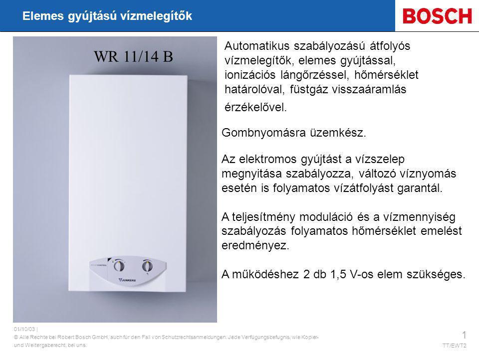 WR 11/14 B Elemes gyújtású vízmelegítők