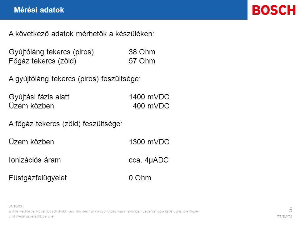 A következő adatok mérhetők a készüléken: