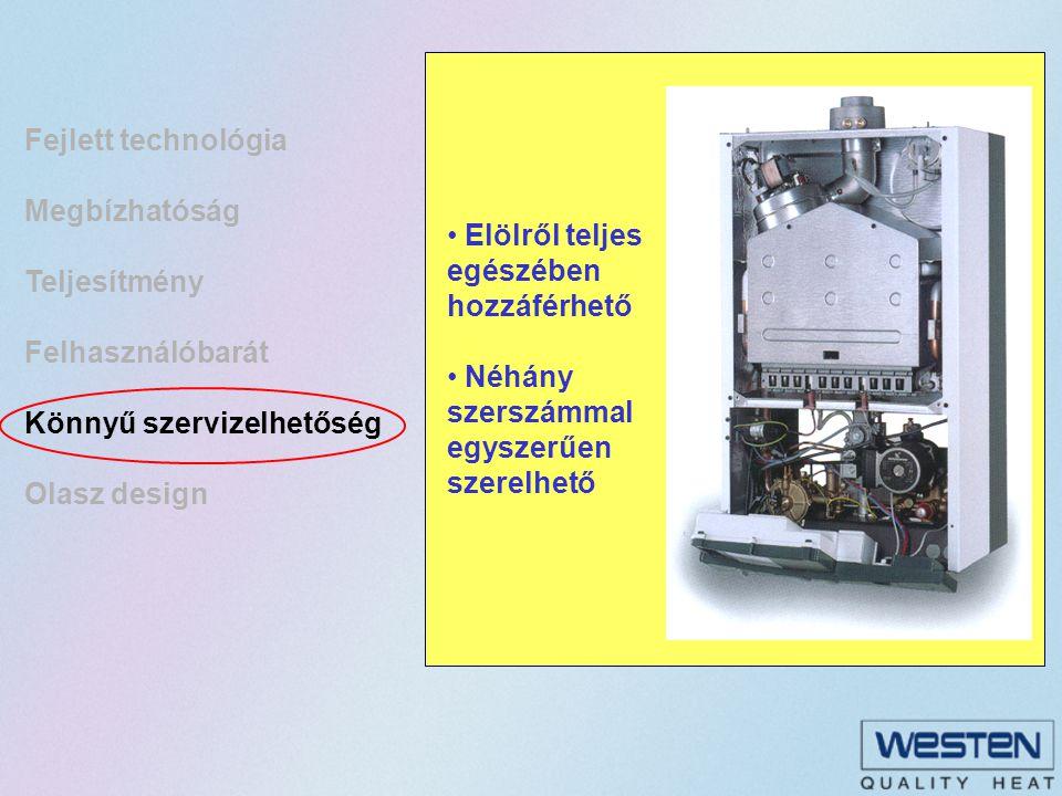 Fejlett technológia Megbízhatóság. Teljesítmény. Felhasználóbarát. Könnyű szervizelhetőség. Olasz design.