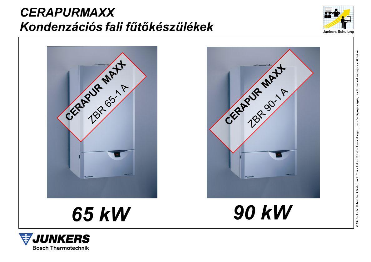 90 kW 65 kW CERAPURMAXX Kondenzációs fali fűtőkészülékek CERAPUR MAXX