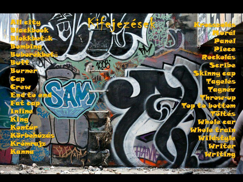 Kifejezések Krosszolás All city Murál Blackbook Panel Blokkbetűk Piece