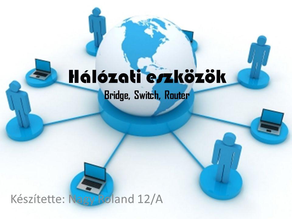 Hálózati eszközök Bridge, Switch, Router