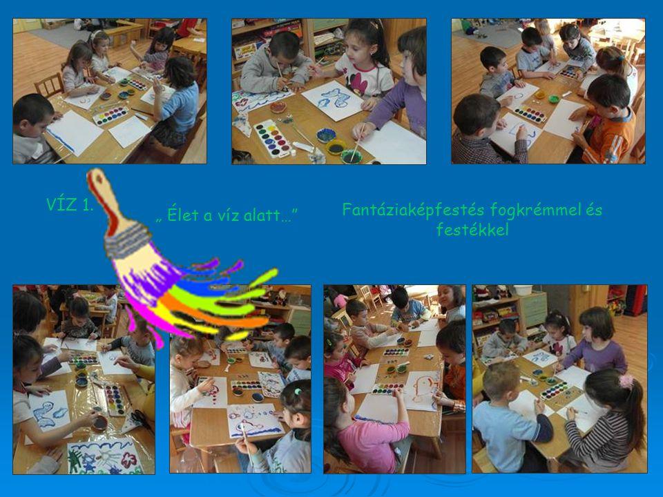 Fantáziaképfestés fogkrémmel és festékkel