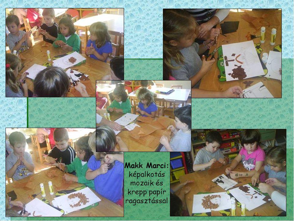 Makk Marci: képalkotás mozaik és krepp papír ragasztással