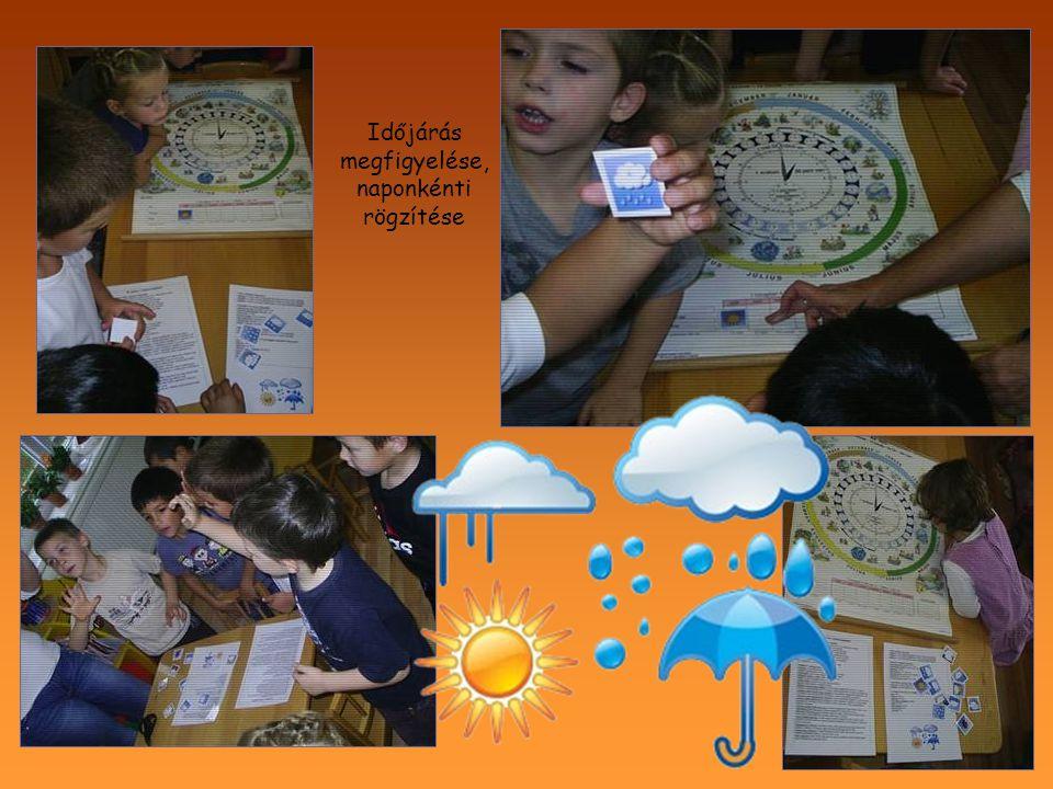 Időjárás megfigyelése, naponkénti rögzítése