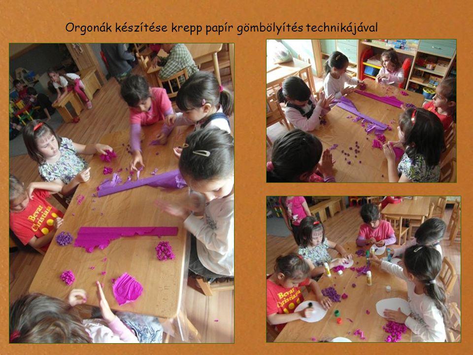 Orgonák készítése krepp papír gömbölyítés technikájával