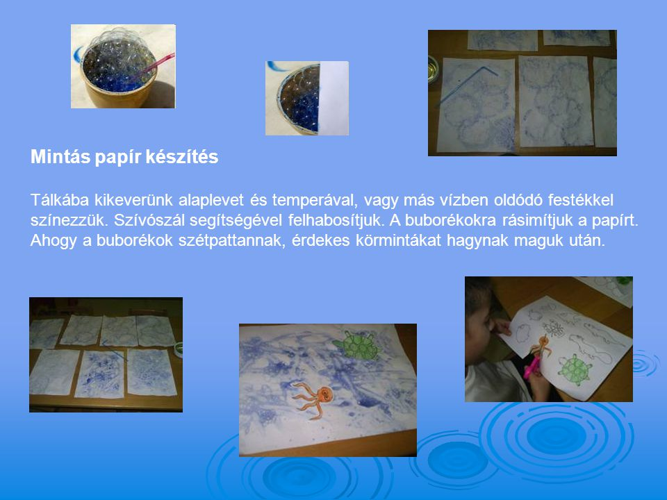 Mintás papír készítés
