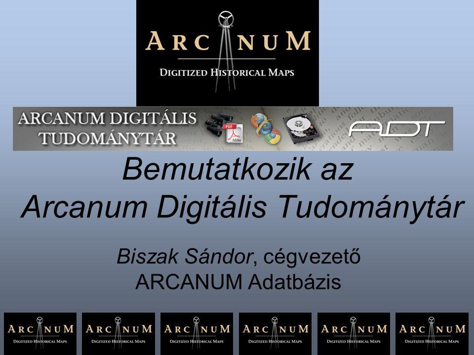 Bemutatkozik az Arcanum Digitális Tudománytár