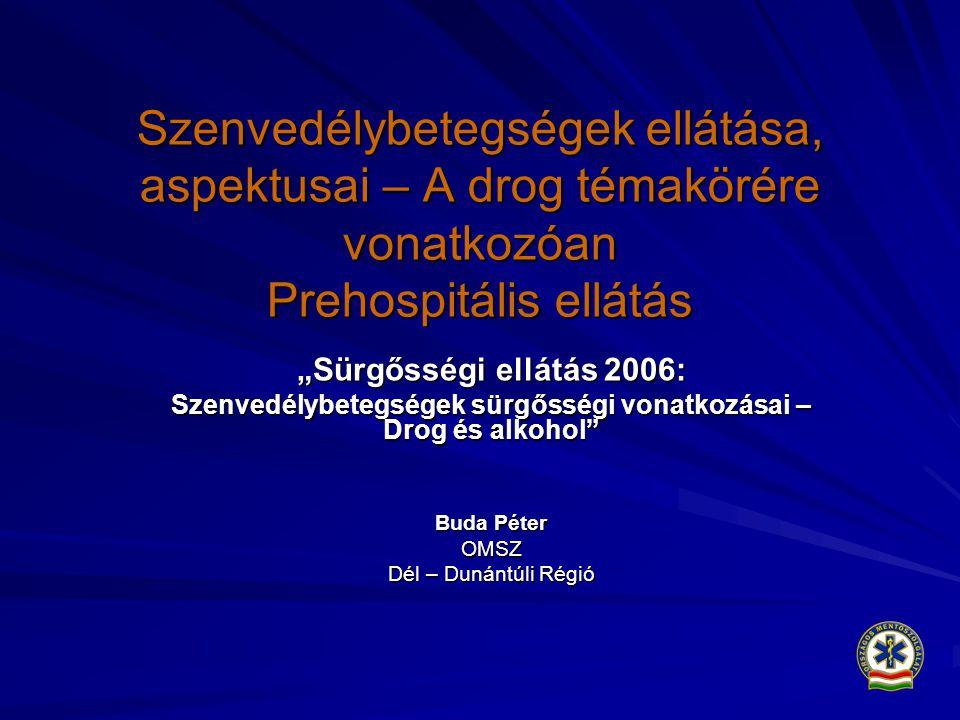 Szenvedélybetegségek sürgősségi vonatkozásai – Drog és alkohol
