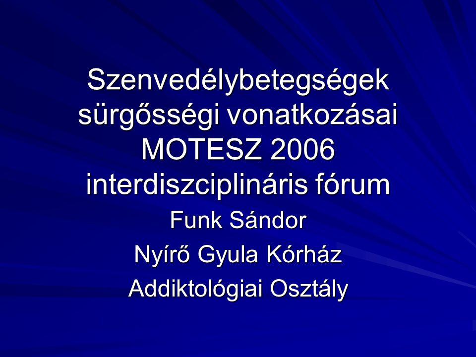 Funk Sándor Nyírő Gyula Kórház Addiktológiai Osztály