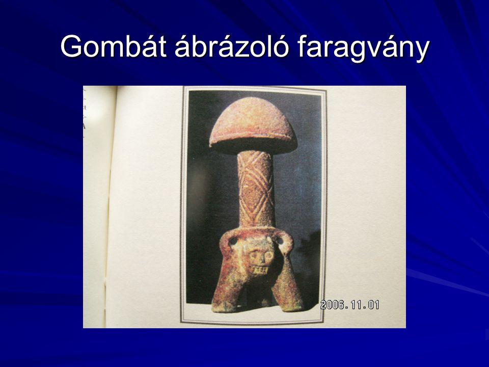 Gombát ábrázoló faragvány