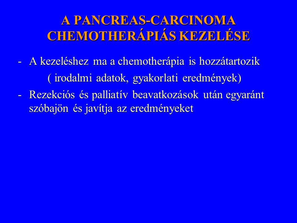 A PANCREAS-CARCINOMA CHEMOTHERÁPIÁS KEZELÉSE