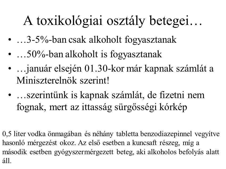 A toxikológiai osztály betegei…