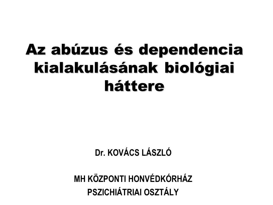 Az abúzus és dependencia kialakulásának biológiai háttere