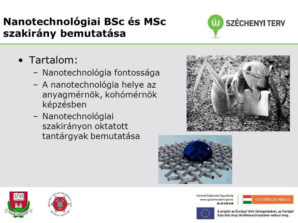 Nanotechnológiai BSc és MSc szakirány bemutatása
