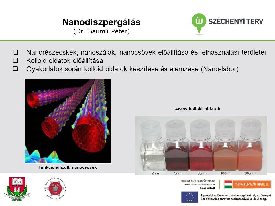 Nanodiszpergálás (Dr. Baumli Péter)