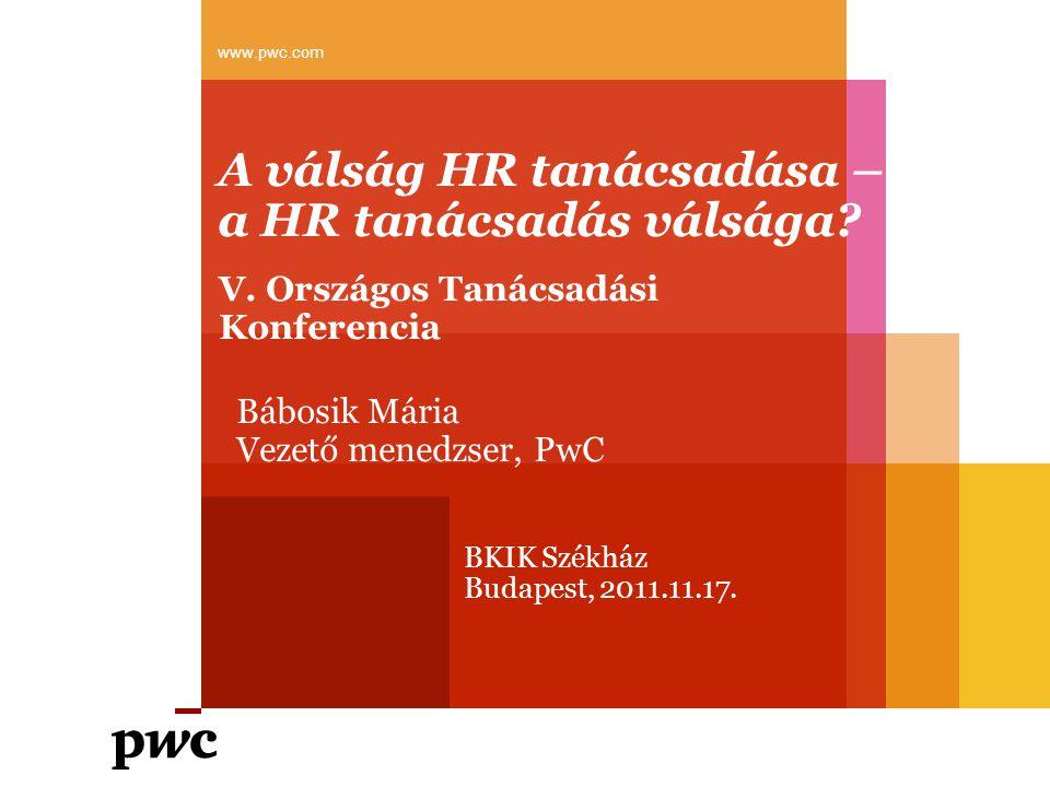 A válság HR tanácsadása – a HR tanácsadás válsága