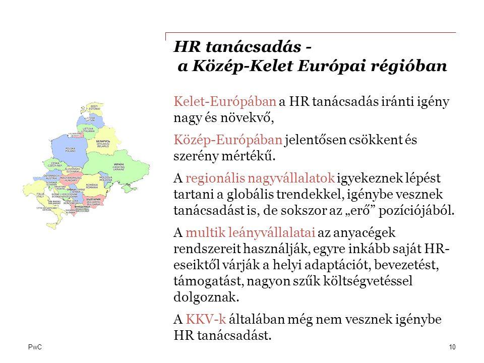 HR tanácsadás - a Közép-Kelet Európai régióban