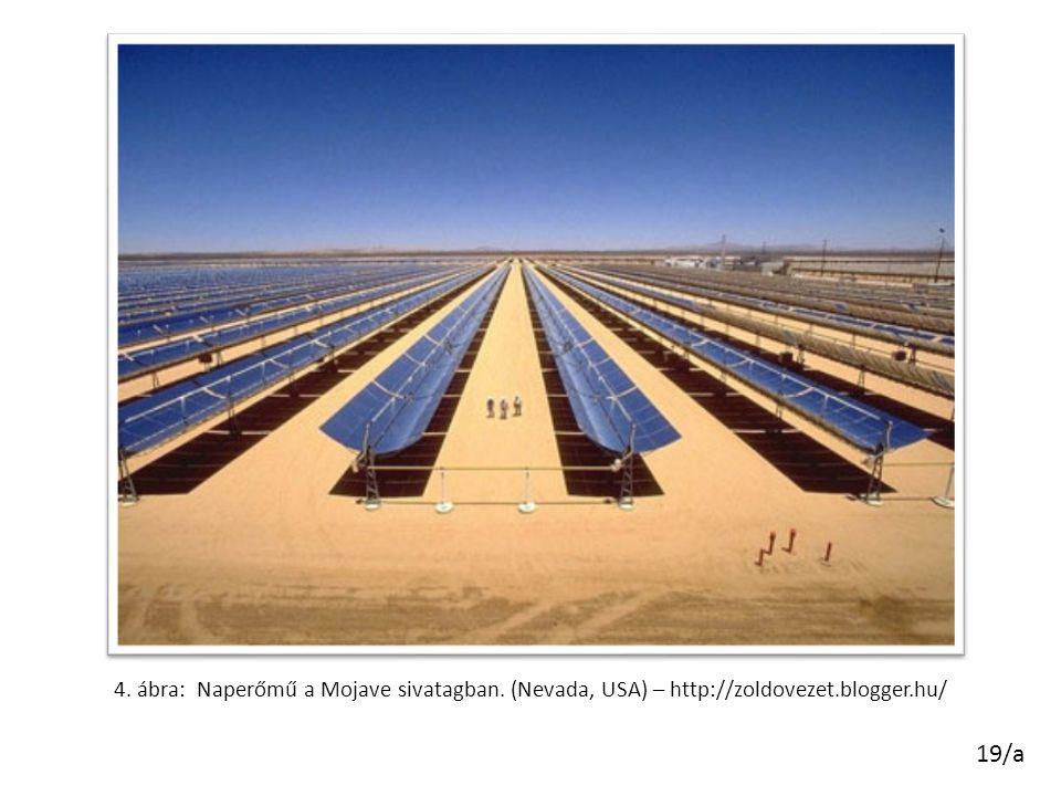 4. ábra: Naperőmű a Mojave sivatagban