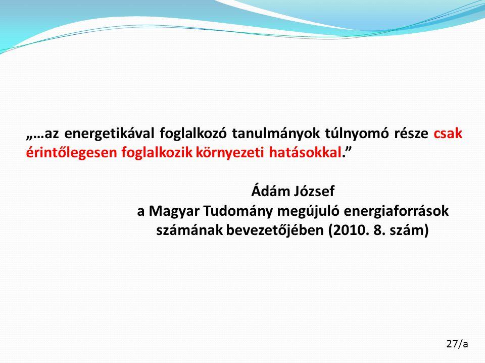 a Magyar Tudomány megújuló energiaforrások