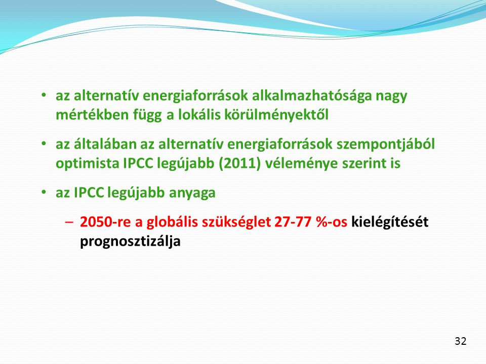 az IPCC legújabb anyaga