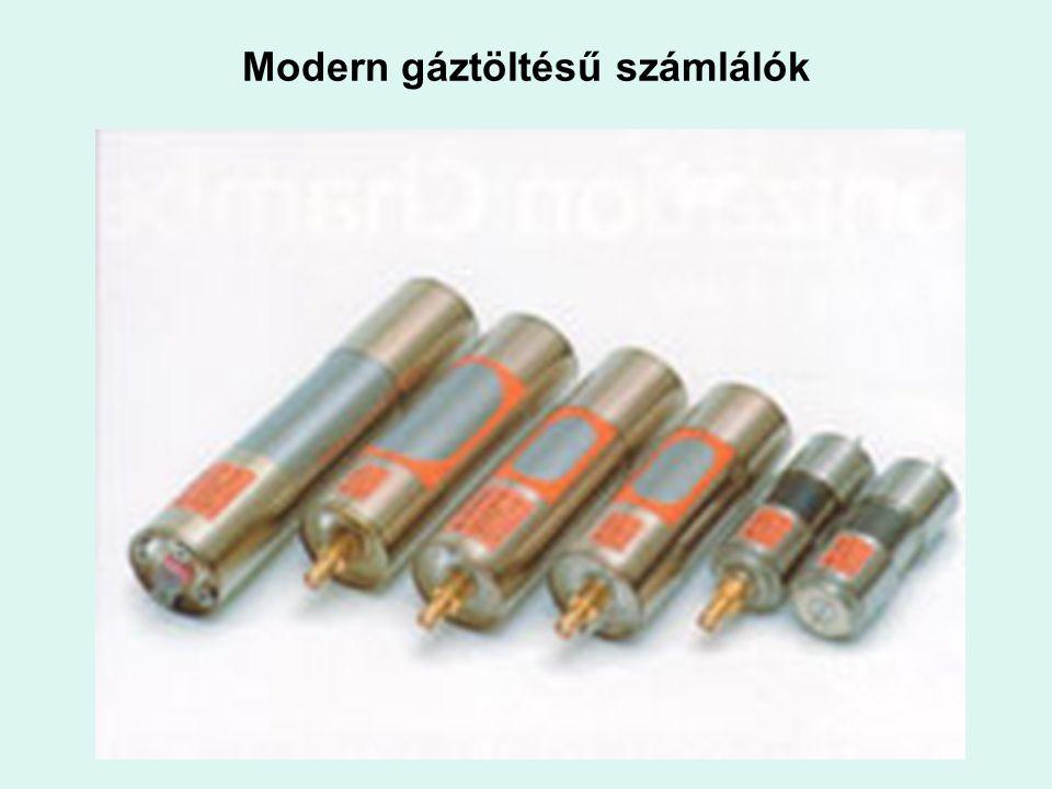 Modern gáztöltésű számlálók