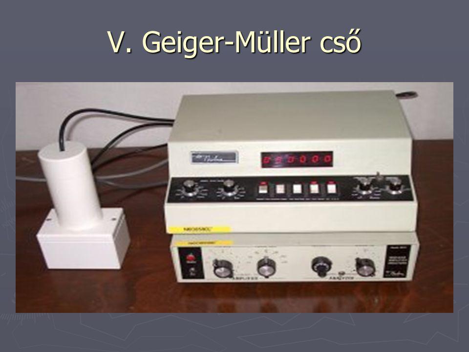 V. Geiger-Müller cső