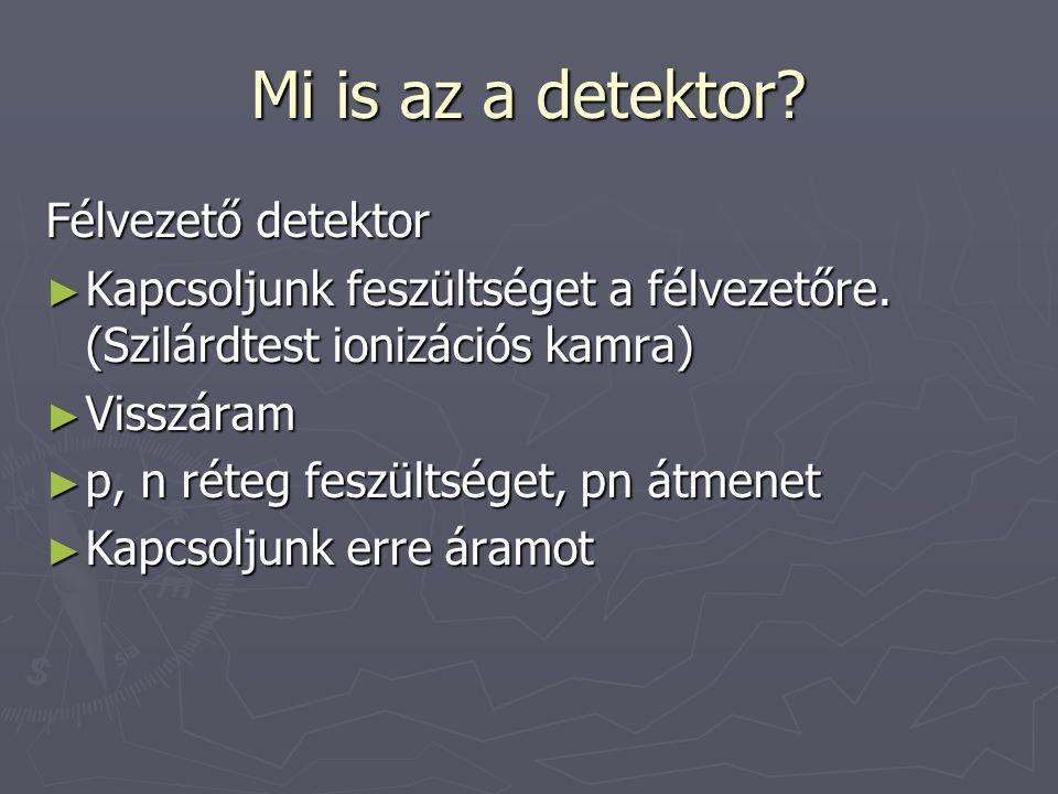 Mi is az a detektor Félvezető detektor