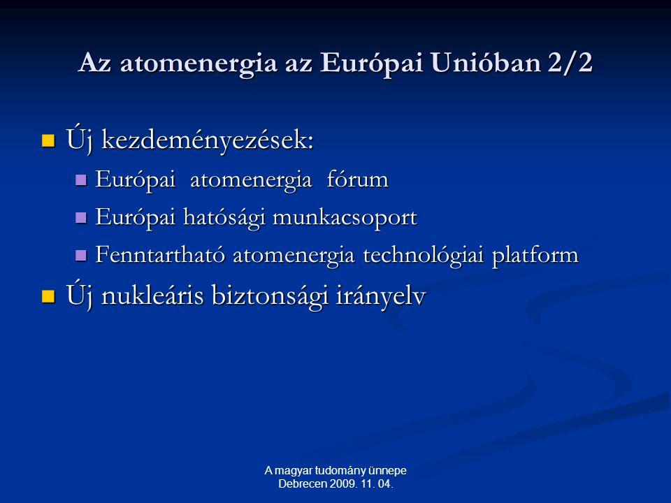 Az atomenergia az Európai Unióban 2/2