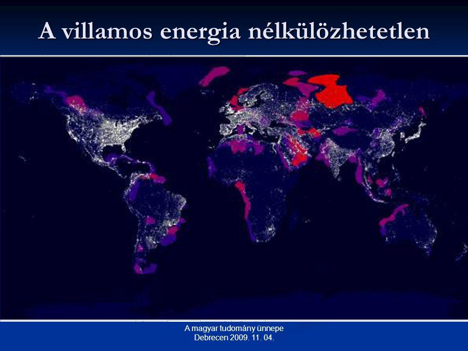 A villamos energia nélkülözhetetlen