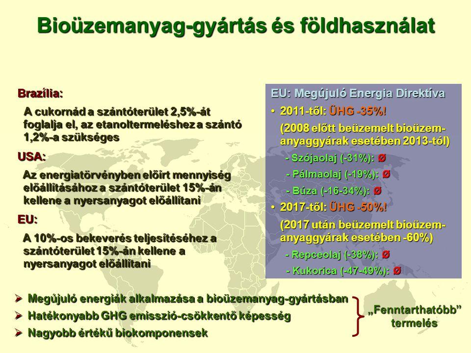 """Bioüzemanyag-gyártás és földhasználat """"Fenntarthatóbb termelés"""