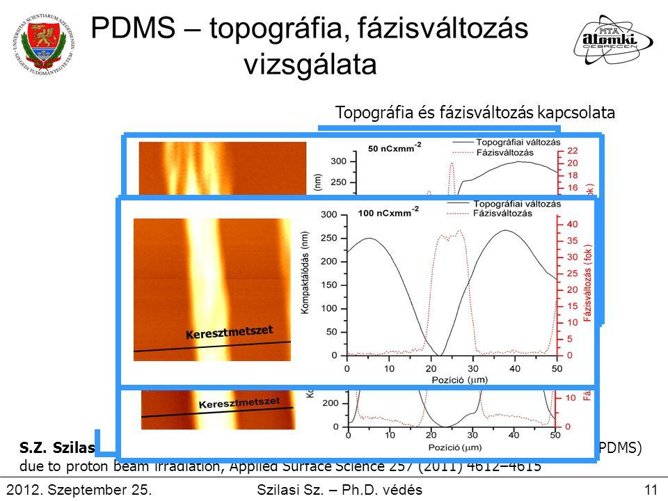 PDMS – topográfia, fázisváltozás vizsgálata