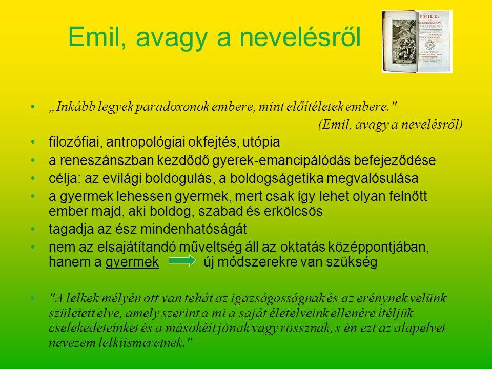 Emil, avagy a nevelésről