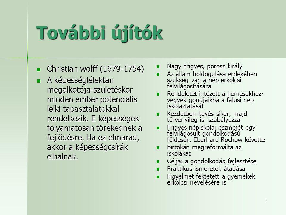 További újítók Christian wolff (1679-1754)
