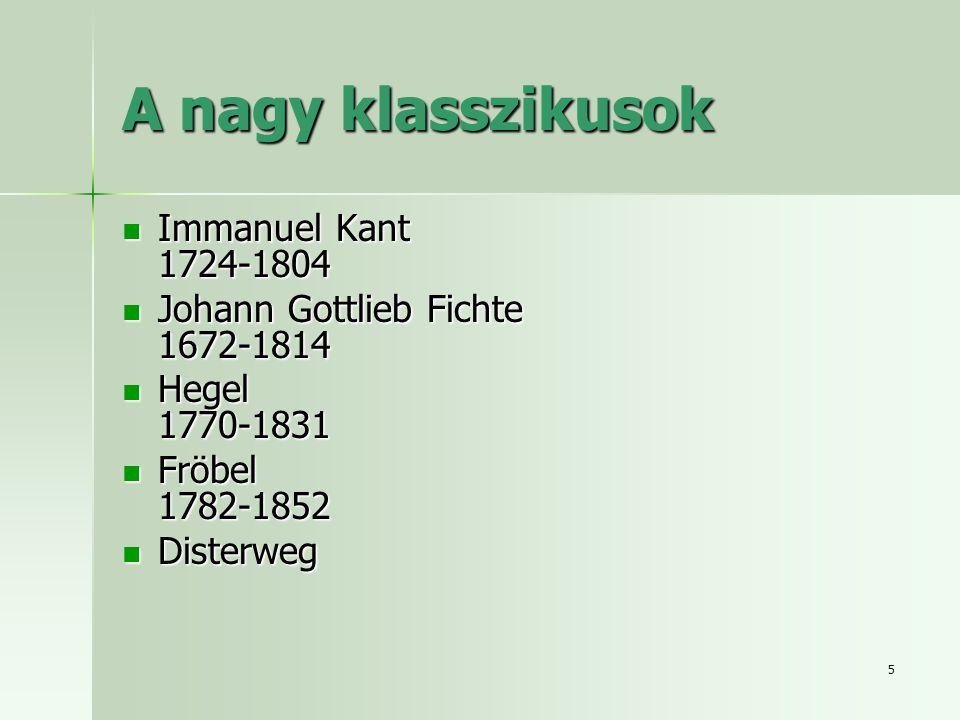 A nagy klasszikusok Immanuel Kant 1724-1804