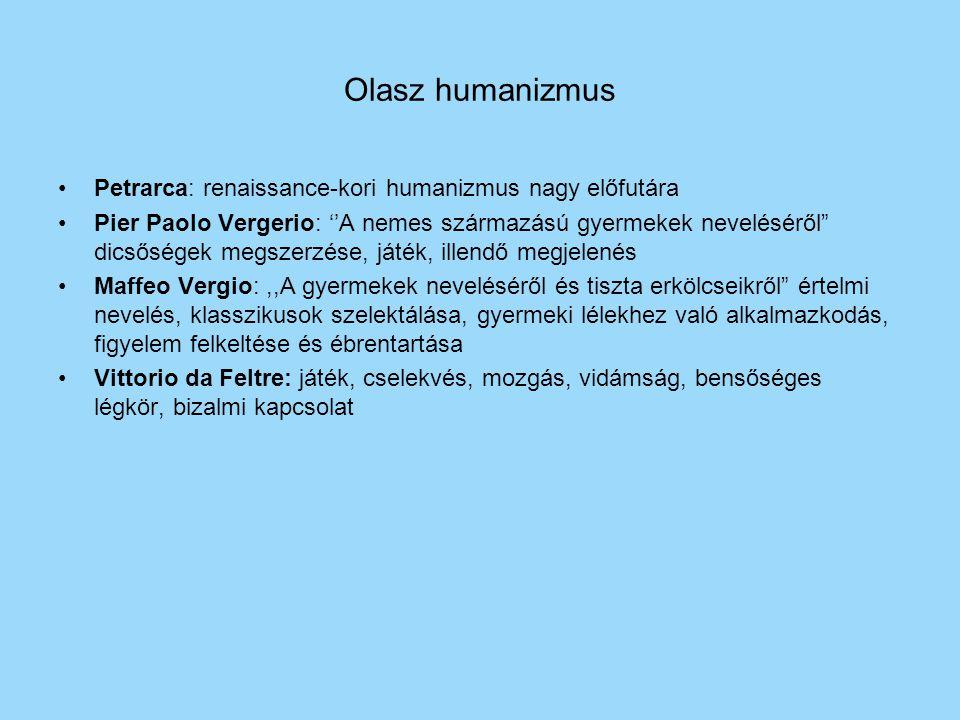 Olasz humanizmus Petrarca: renaissance-kori humanizmus nagy előfutára