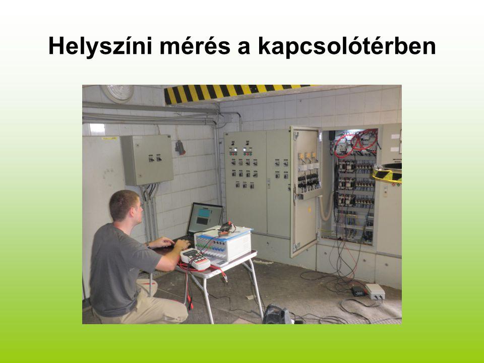 Helyszíni mérés a kapcsolótérben