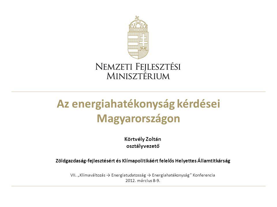 Az energiahatékonyság kérdései Magyarországon