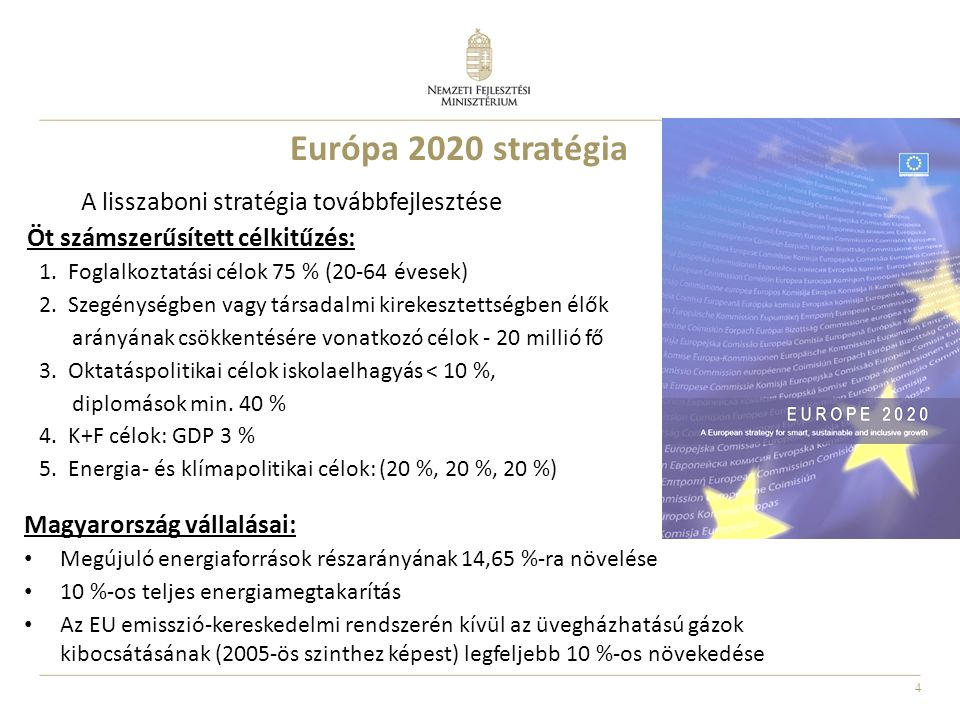 Európa 2020 stratégia A lisszaboni stratégia továbbfejlesztése